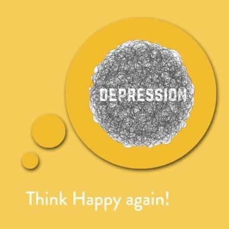 Think Happy again! Affirmationen gegen depressive Episoden